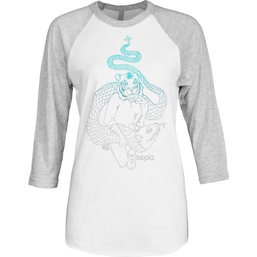 hoopla Tiger Raglan 3/4 Sleeve Shirt