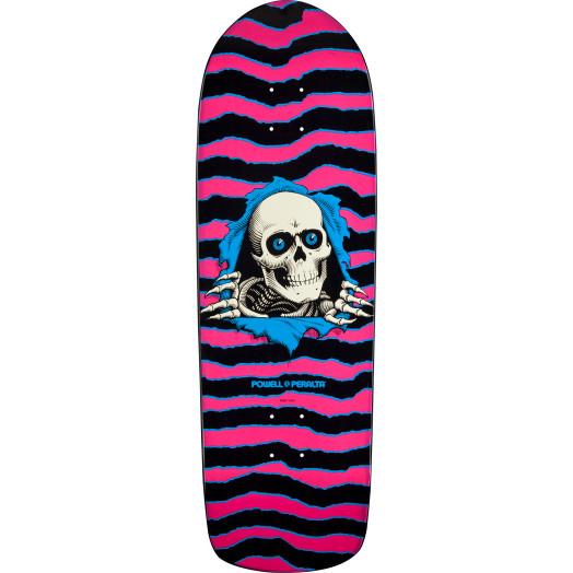 Powell Peralta Ripper Skateboard Deck Pink/Blue - 10 x 31.75