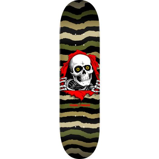 Powell Peralta Ripper Skateboard Deck Olive - Shape 242 - 8 x 31.45