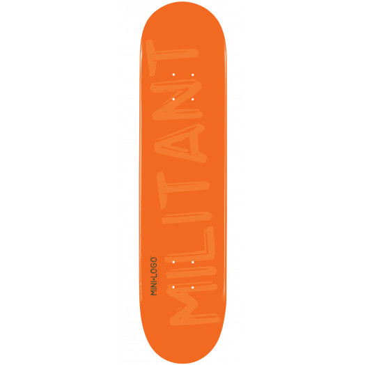 Mini Logo Militant Skateboard Deck 191 Orange - 7.5 x 28.65