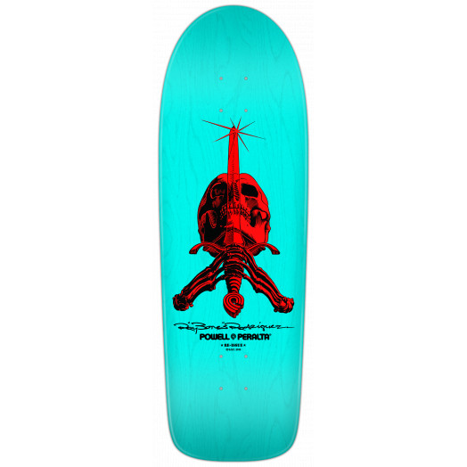 Powell Peralta Rodriguez Skull & Sword Deck Light Blue - 10 x 30
