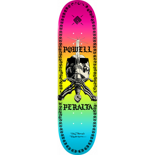 Powell Peralta Skull And Sword Chainz Skateboard Deck Colby - Shape 248 - 8.25 x 31.95