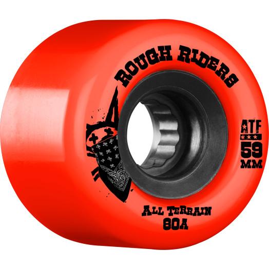 BONES WHEELS Rough Riders 59mm Red Wheel 4pk