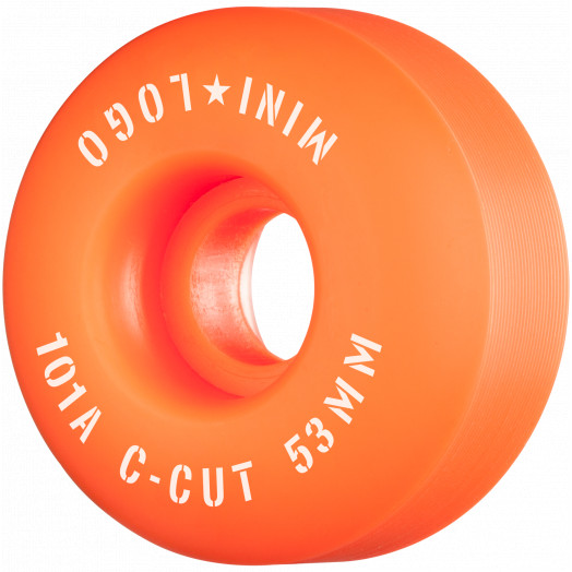 "Mini Logo Skateboard Wheels C-cut ""2"" 53mm 101A Orange 4pk"