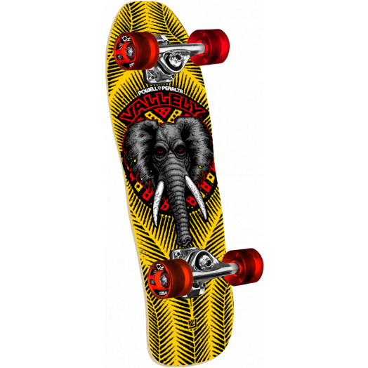 Powell Peralta Mini Mike Vallely Elephant Yellow Complete Skateboard - 7.5 x 24