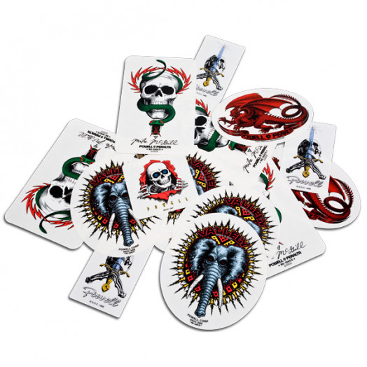 Powell Classic Assorted Stickers (20 Pack)