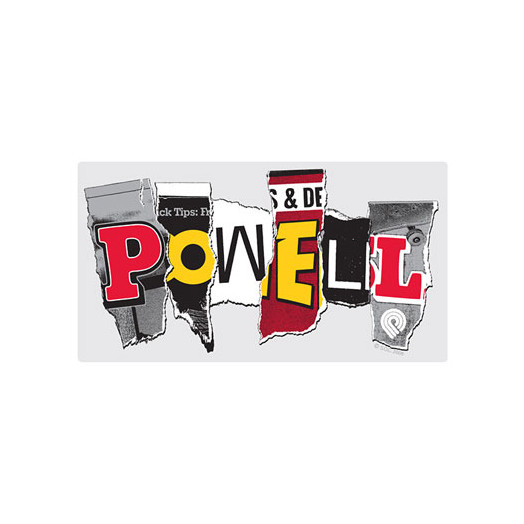 """Powell MAG Letters 12"""" Sticker (Single)"""