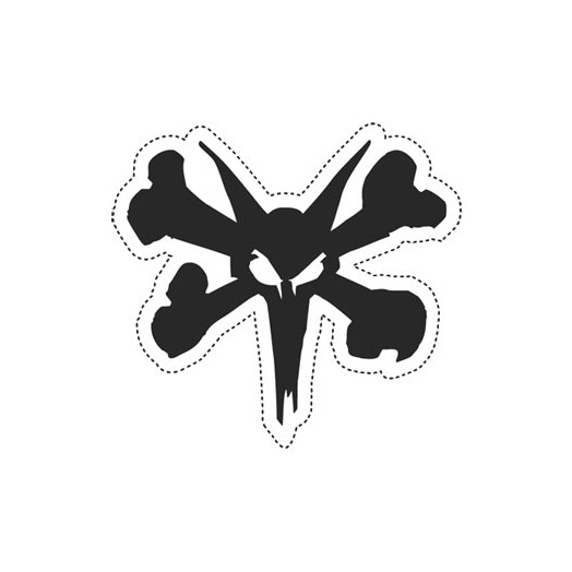 """BONES WHEELS 7"""" Rat Sticker (Single)"""