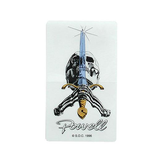 Powell Classic Skull & Sword Sticker
