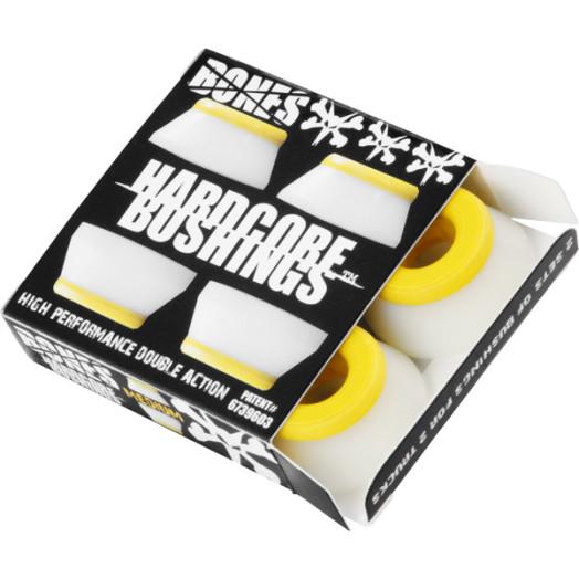 BONES® Hardcore Bushings® - Medium - White  (2 sets)