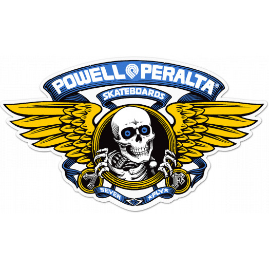 Powell Peralta Winged Ripper 5 inch Die-Cut Sticker Single - BLUE