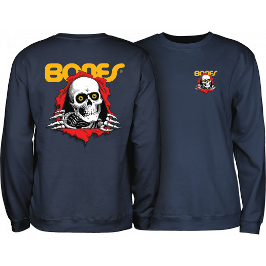 Powell Peralta Ripper Crew SweatShirt Mid Weight Navy