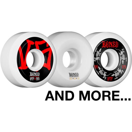 BLEM BONES WHEELS STF Skateboard Wheels V5 55mm White 4pk