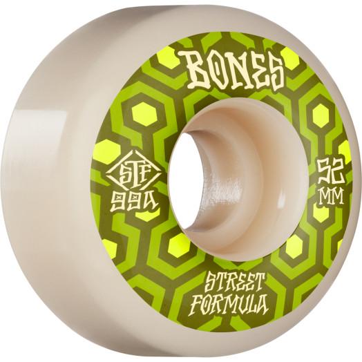 BONES WHEELS STF Skateboard Wheels Retros 52 V1 Standard 99A 4pk