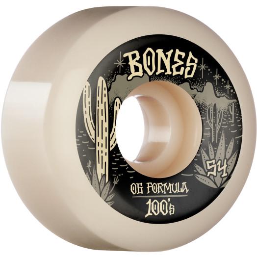 BONES WHEELS OG Formula Skateboard Wheels Desert West 54mm V5 Sidecut  4pk White
