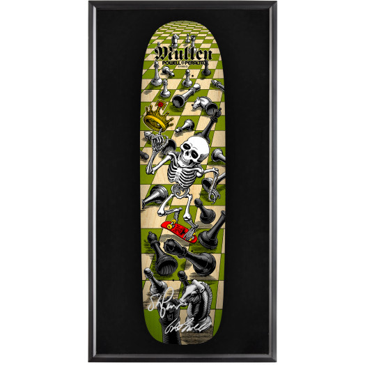 Bones Brigade® Shadowbox Mullen Chess Blem Skateboard Deck Natural - Signed by Geoge/Stacy