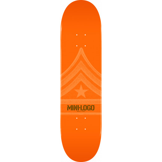 Mini Logo Quartermaster Deck 112 Orange - 7.75 x 31.75