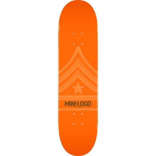 Mini Logo Quartermaster Skateboard Deck 112 Orange - 7.75 x 31.75