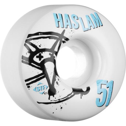 BONES WHEELS STF Pro Haslam Numbers 51mm 4pk