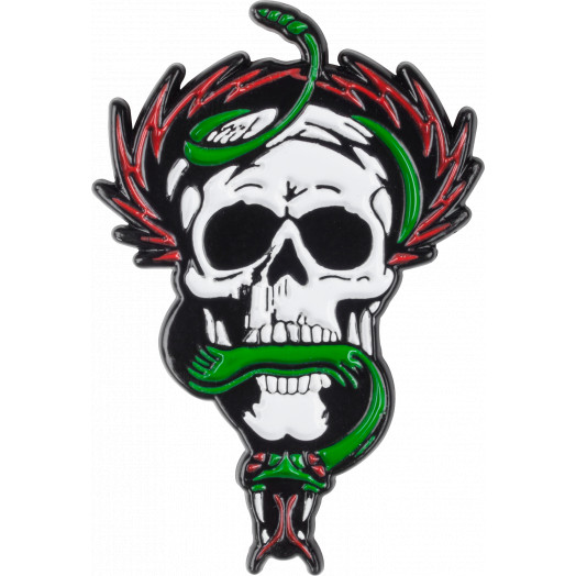 Powell Peralta Skull and Snake Lapel Pin