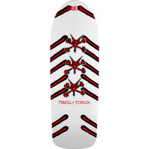 Powell Peralta OG Rat Bones Skateboard Deck White-  10 x 30