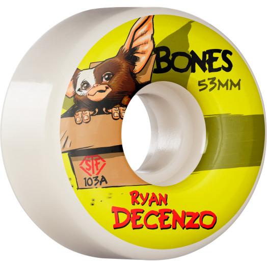 BONES WHEELS PRO STF Skateboard Wheels Decenzo Gizzmo 53mm V2 Locks 103A 4pk