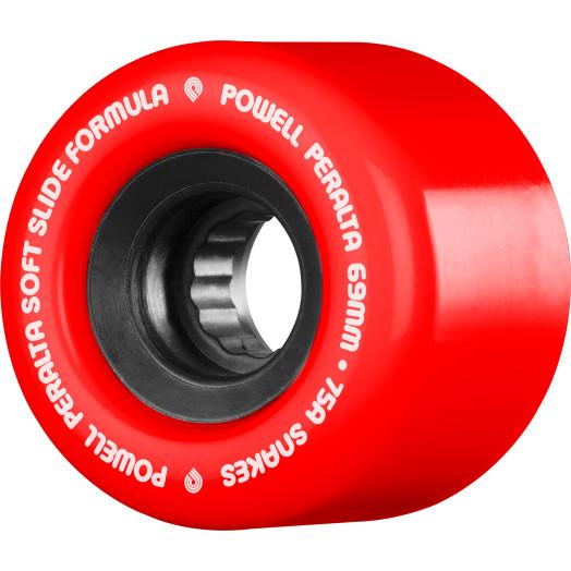 Powell Peralta Snakes Skateboard Wheels 69mm 75a 4pk Red Skate One