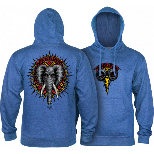 Powell Peralta Mike Vallely Elephant Hooded Sweat Shirt Mid Weight Royal Heather