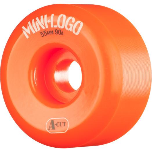 Mini Logo Skateboard Wheels A-cut 55mm 90A Orange 4pk