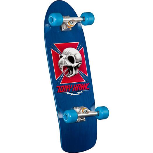 Bones Brigade Hawk Skateboard Complete Blue- 9.56 x 29.63