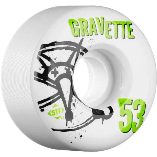 BONES WHEELS STF Pro Gravette Numbers 53mm 4pk