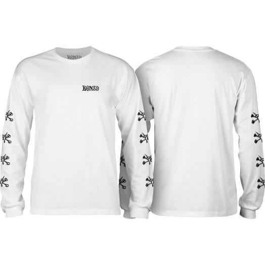 BONES WHEELS L/S T-shirt Steve White