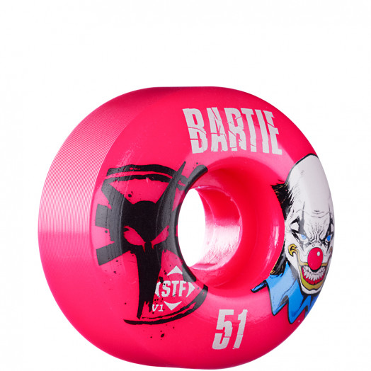 BONES WHEELS STF Pro Bartie Clown 51mm - Pink (4 pack)
