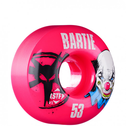 BONES WHEELS STF Pro Bartie Clown 53mm - Pink (4 pack)