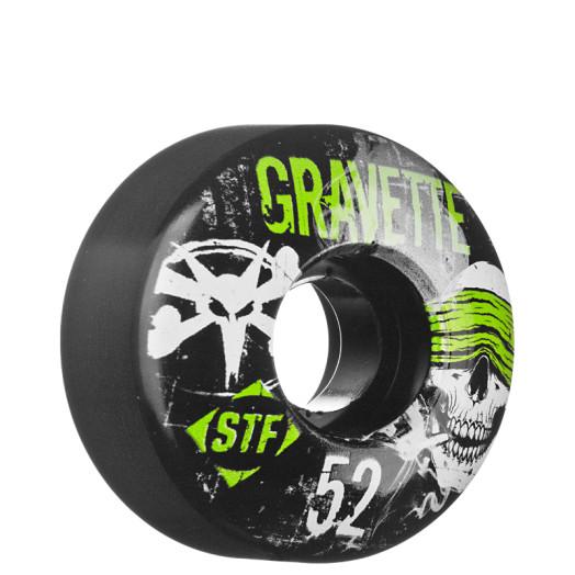 BONES WHEELS STF Pro Gravette Hostage 52mm - Black (4 pack)