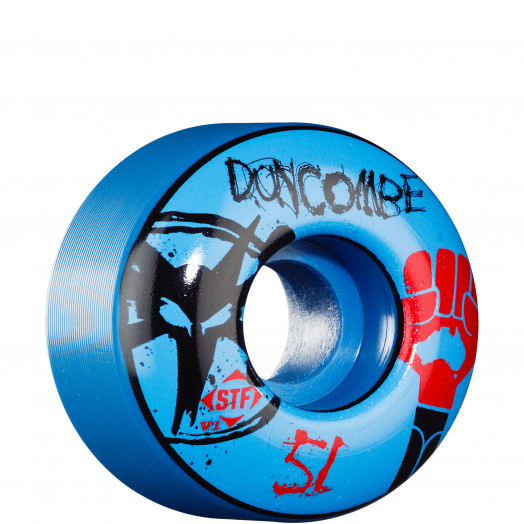 BONES WHEELS STF Pro Duncombe Fist 51mm - Blue (4 pack)