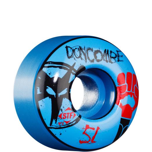 BONES WHEELS STF Pro Duncombe Fist 51mm - Blue (4 pack)