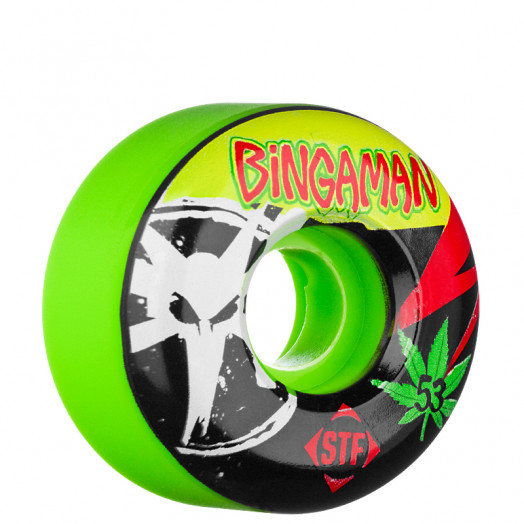 BONES WHEELS STF Pro Bingaman Light 53mm Green 4 pk