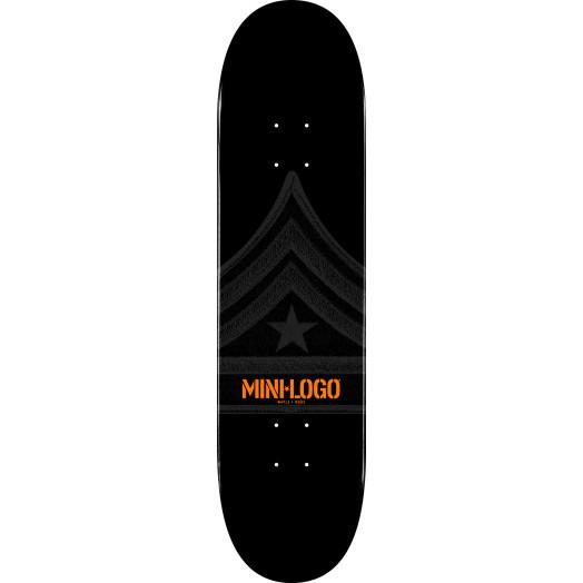 Mini Logo Quartermaster Skateboard Deck 124 Black - 7.5 x 31.375