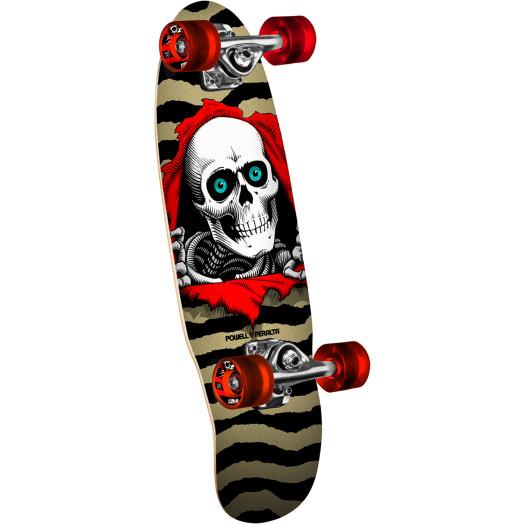 Powell Peralta Micro Mini Ripper Gold Complete Skateboard - 7.5 x 24
