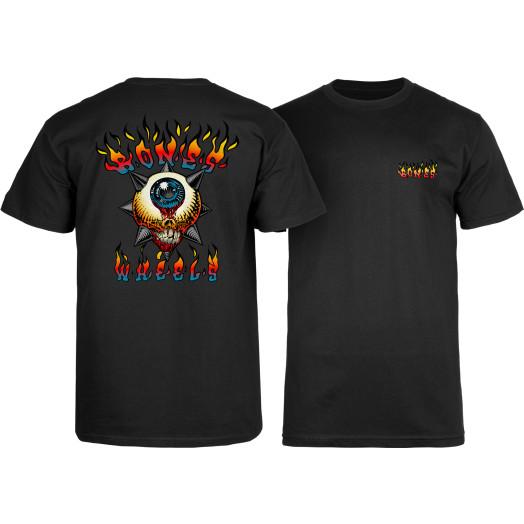 BONES WHEELS Iron Sun T-Shirt Black
