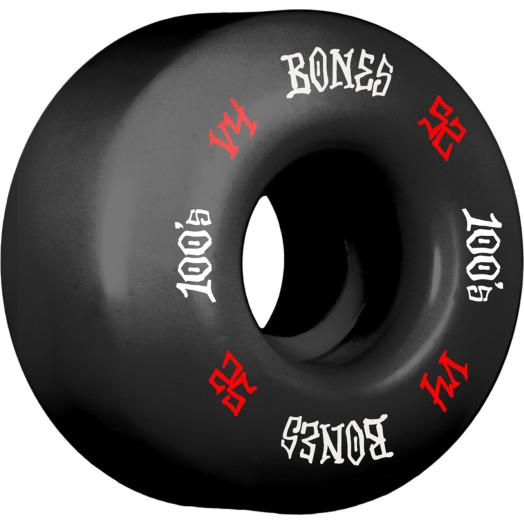 BLEM BONES WHEELS 100's V4 52mm Black 4pk
