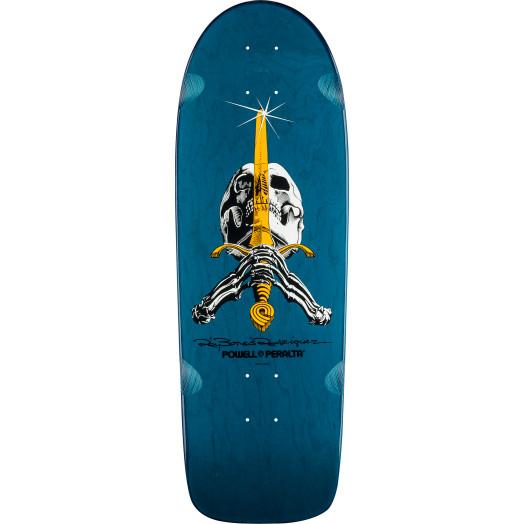 Powell Peralta Ray Rodriguez Skull and Sword OG Snub Skateboard Deck - 10 x 30