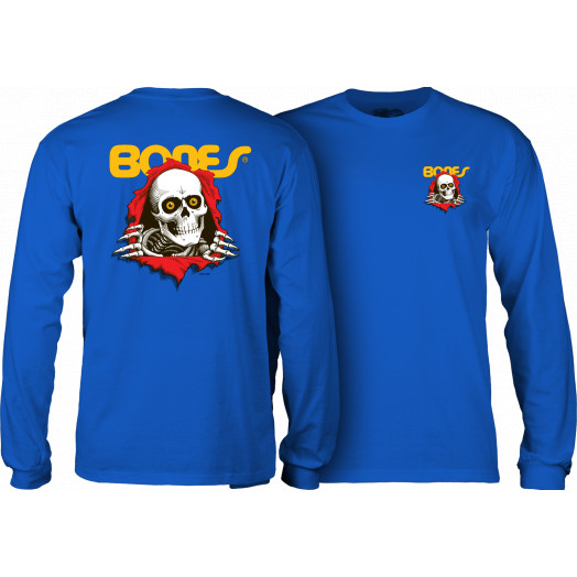 Powell Peralta Ripper YOUTH L/S T-shirt - Royal Blue