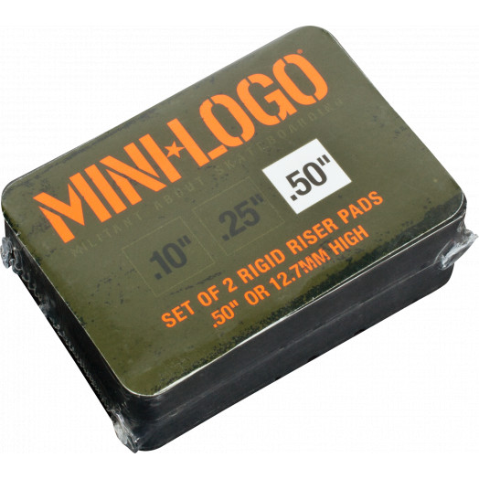 "Mini Logo Riser 3 single .50"" rigid pad"