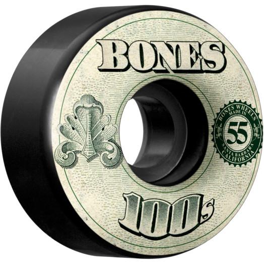 BONES WHEELS 100's OG Formula 55x34 V4 Skateboard Wheels 100a 4pk Black