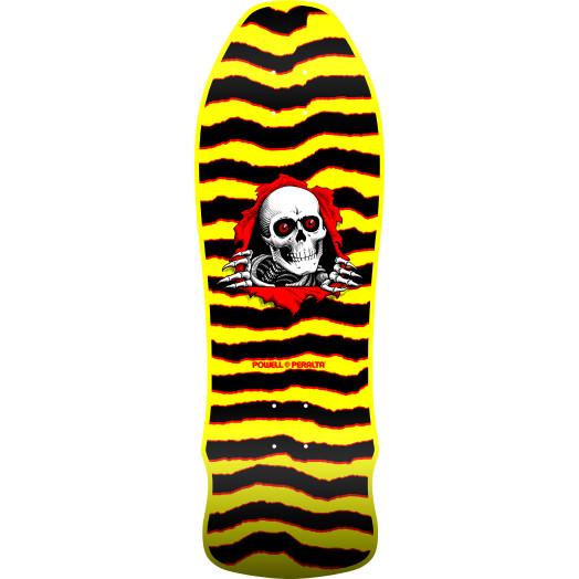 Powell Peralta GeeGah Ripper Skateboard Blem Deck Yellow - 9.75