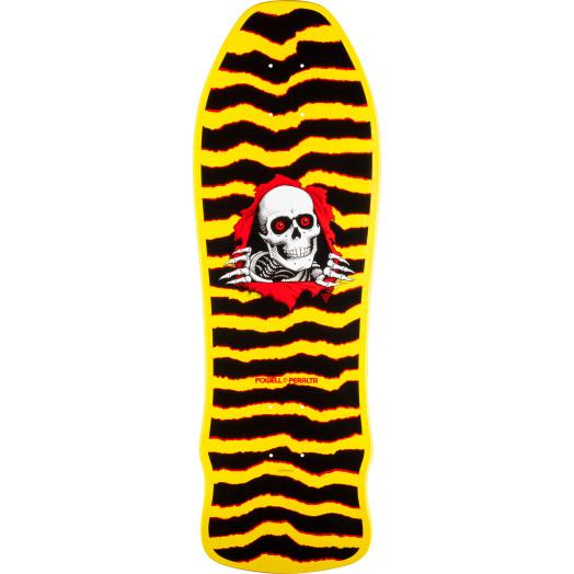 Powell Peralta Geegah Ripper Skateboard Deck Yellow - 9.75 x 30
