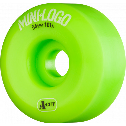 Mini Logo Skateboard Wheels A-cut 54mm 101A Green 4pk
