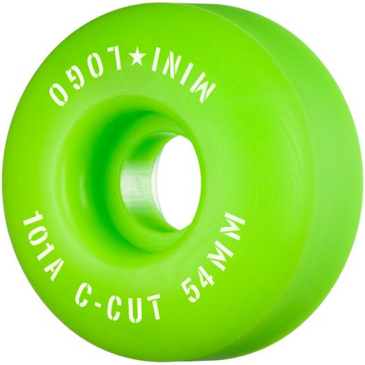 "Mini Logo Skateboard Wheels C-cut ""2"" 54mm 101A Green 4pk"